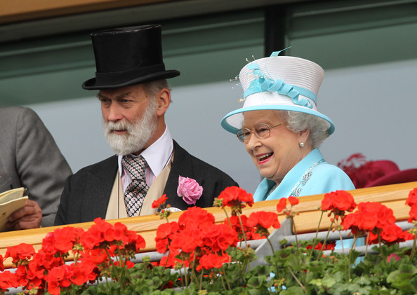Prince Michael of Kent and Queen Elizabeth